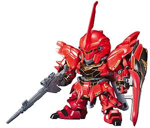 Gundam SD BB #365 Model Kit: MSN-06S Sinanju