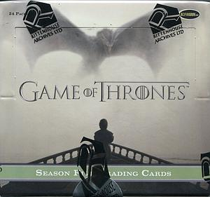 Game of Thrones Season 5 Trading Cards: Booster Box (24 Packs)