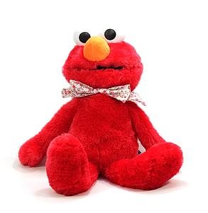 "Sesame Street Plush Elmo with Floral Ribbon (15"")"