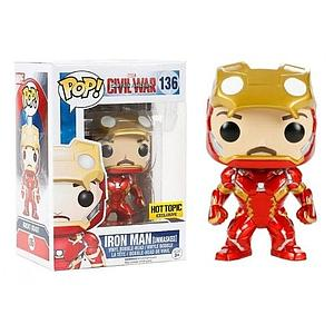 Pop! Marvel Captain America Civil War Vinyl Bobble-Head Iron Man Unmasked #136 Hot Topic Exclusive