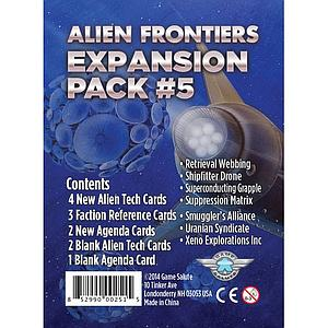 Alien Frontiers: Expansion Pack #5