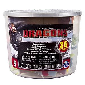 DreamWorks Dragons - Dragon Bucket - 25 Figures