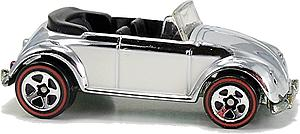 Hot Wheels Classics Cars Die-Cast: VW Bug Convertible (Chrome)