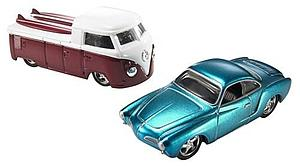 Hot Wheels Viva Volkswagen Cars Die-Cast: Karmann Ghia & VW Pickup Truck