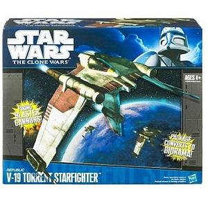 Star Wars The Clone Wars Vehicles: Republic V-19 Torrent Starfighter (Canadian Packaging)