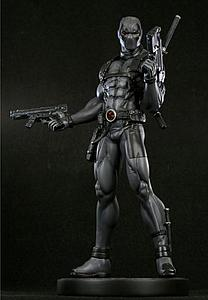 "Bowen Marvel Collectible 12"" Statue Figure: X-Force Deadpool (Black)"