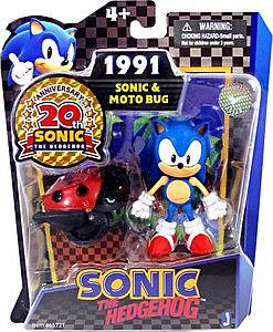 "Sonic the Hedgehog 20th Anniversary 3"" Game Pack: 1991 Sonic & Moto Bug"