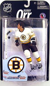 NHL Sportspicks Series 23 Bobby Orr (Boston Bruins) White Jersey Collector Level Bronze