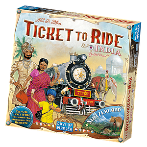 Ticket to Ride Map Collection: Volume 2 - India & Switzerland