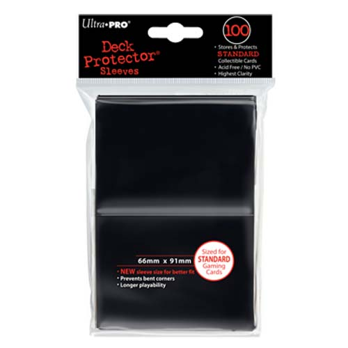 Card Sleeves 100-pack Standard Size: Black