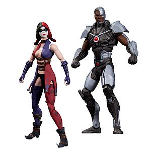 DC Direct Injustice Gods Among Uss 2-Pack: Cyborg vs Harley Quinn