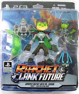 "Ratchet & Clank Future 5"" Series: Armored Ratchet with Mr. Zurkon"