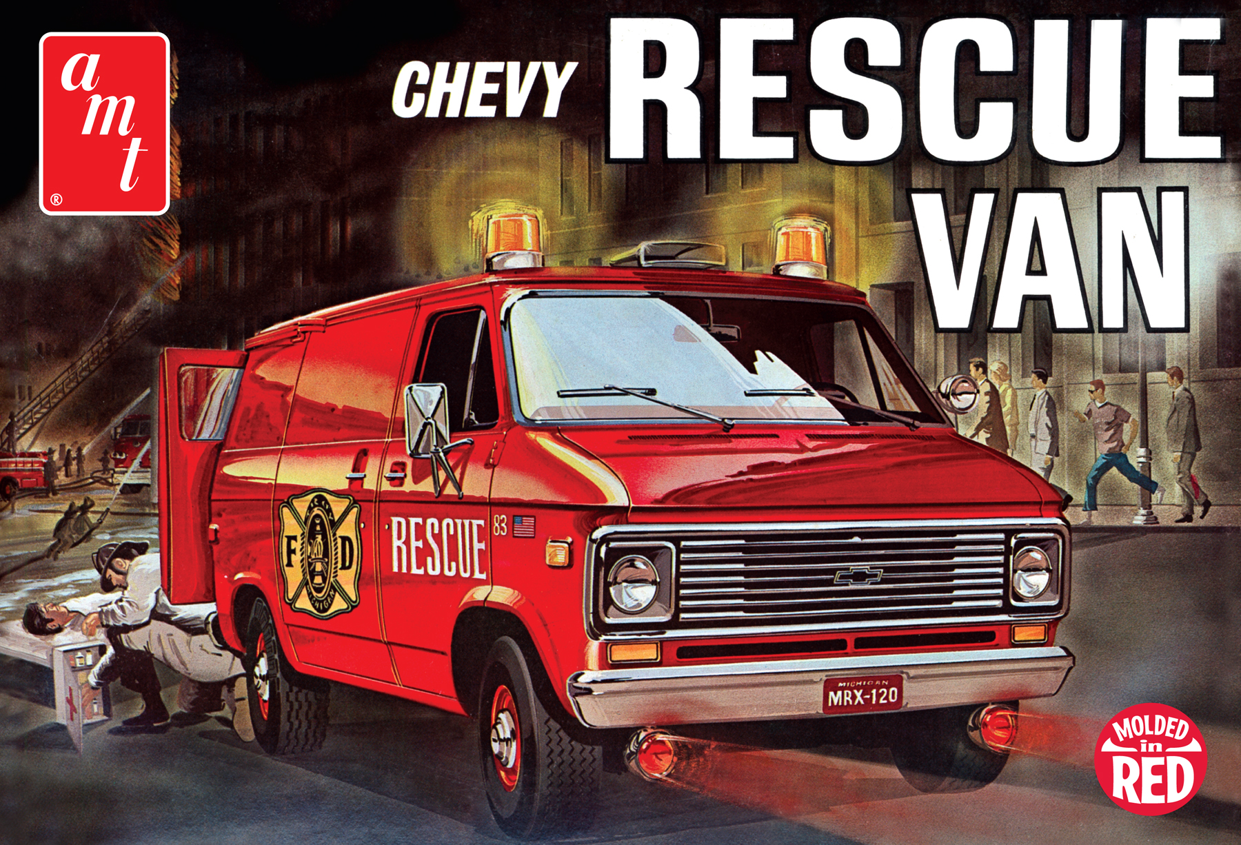 1975 Chevy Rescue Van [Red] (851)