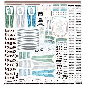 Star Trek Supplemental Starship Decals (MKA002)