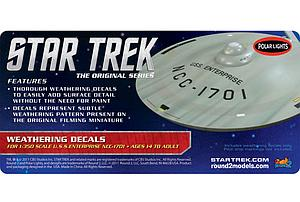 Star Trek U.S.S. Enterprise Weathering Decals (MKA008)