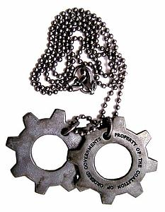 Gears of War 3 Metal Replica Cog Tags