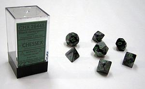 Dice 7-Piece Polyhedral Set - Gemini Black Grey Green