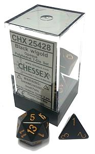 Dice 7-Piece Polyhedral Set - Opaque Black/Gold