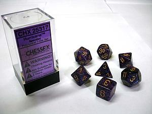 Dice 7-Piece Polyhedral Set - Speckled Hurricane