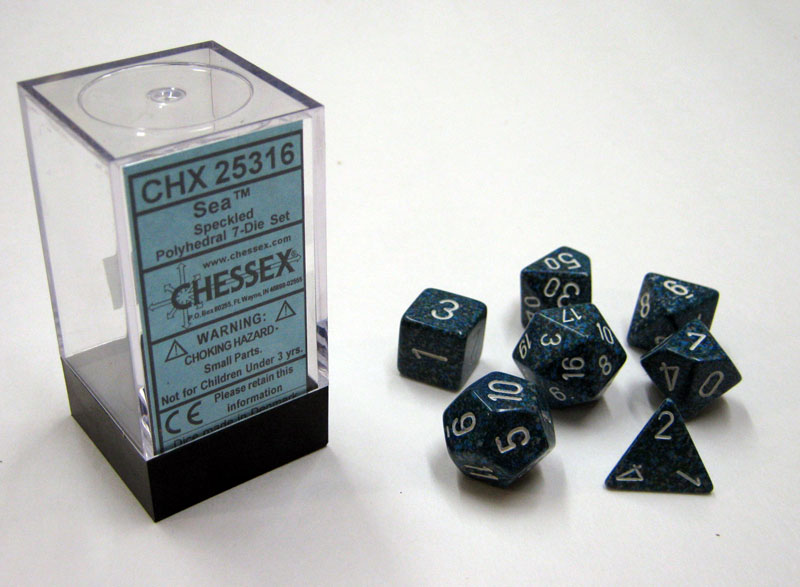 Dice 7-Piece Polyhedral Set - Speckled Sea