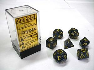 Dice 7-Piece Polyhedral Set - Speckled Urban Camo