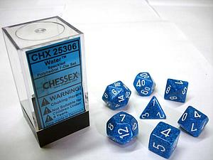 Dice 7-Piece Polyhedral Set - Speckled Water