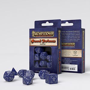 Q-Workshop Dice 7-Piece Polyhedral Set - Pathfinder Second Darkness