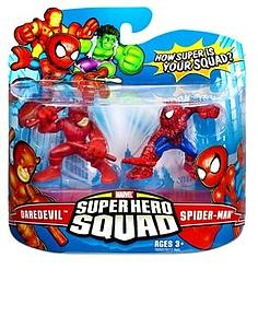 "Marvel Super Hero Squad 2"" 2-Pack: Daredevil & Spiderman"