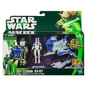 Star Wars Vehicle 501st Legion AT-RT with Arf Trooper & TX-21 Tactical Droid