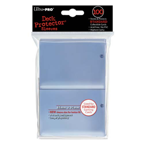 Card Sleeves 100-pack Standard Size: Clear