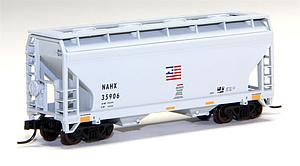 2-Bay Centerflow Hopper - GE Rail Car [NAHX] (50001305)