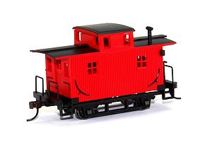 Bobber Caboose - Painted Red & Unlettered (18449)