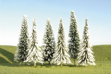 "2"" - 4"" Pine Bulk Trees with Snow [36 Pieces] (32153)"