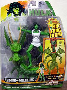 Marvel Legends Build-A-Figure Fin Fang Foom Series: She-Hulk