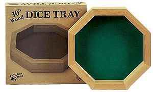 Dice Tray 10 Inch Wood