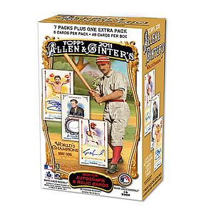 2010-11 MLB Topps Allen & Ginter's World's Champions Blaster Box