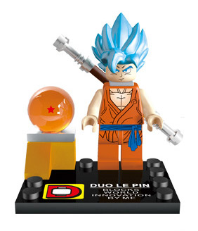Anime Dragon Ball Z Minifigure: Goku (Super-Saiyan God)