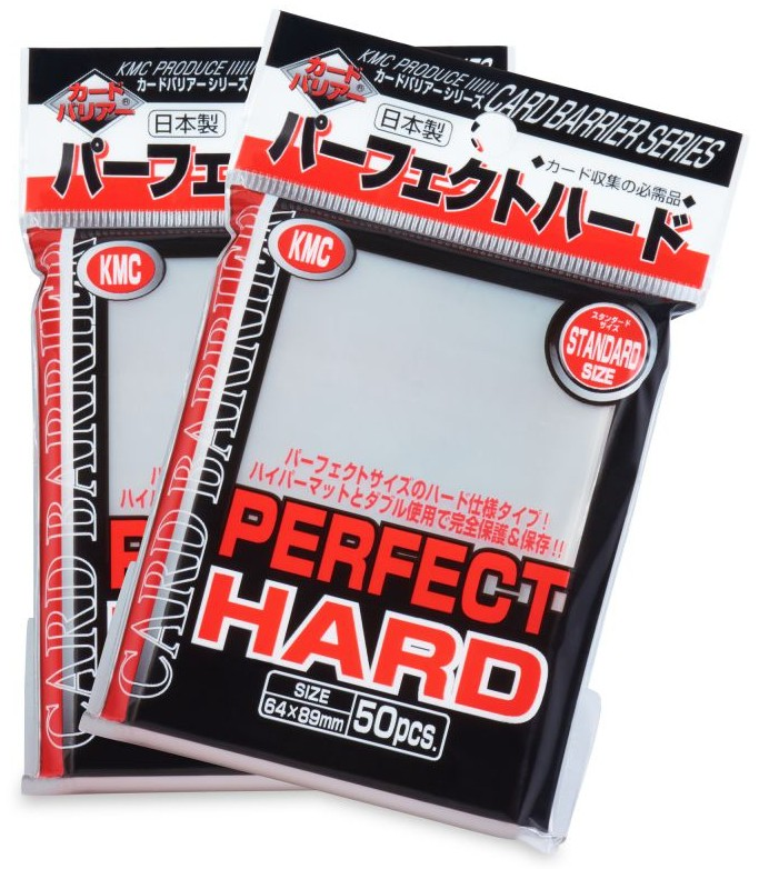 Card Sleeves 50-pack Perfect Hard Standard Size: Clear