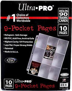 9-Pocket Platinum Page for Standard Size Card (10-Pack)