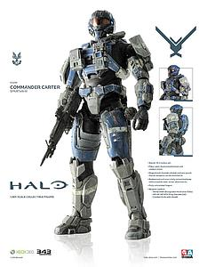 "Halo Reach ThreeA 13"": Commander Carter"