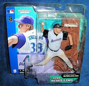 MLB Sportspicks Series 3: Curt Schilling (Arizona Diamondbacks) Grey Jersey Variant