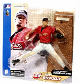 MLB Sportspicks Series 3: Roy Oswalt (Houston Astros) Red Jersey (White Pants Regular)