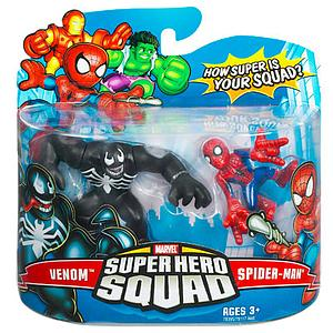 "Marvel Super Hero Squad 2"" 2-Pack: Venom & Spider-Man"