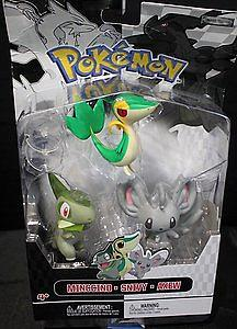 Pokemon Black White 3-Pack Series 2 Basic Figures: Mincinno, Axew, Pidove