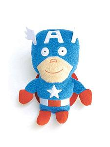 Comic Images Footzeez Marvel Plush: Captain America