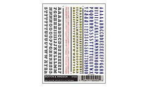 Dry Transfer Decals - Beton & Windsor (502)
