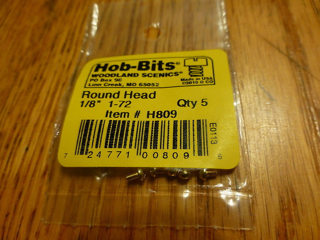 1-72 1/8In. Round Head Hob-Bits [5 Pack] (809)