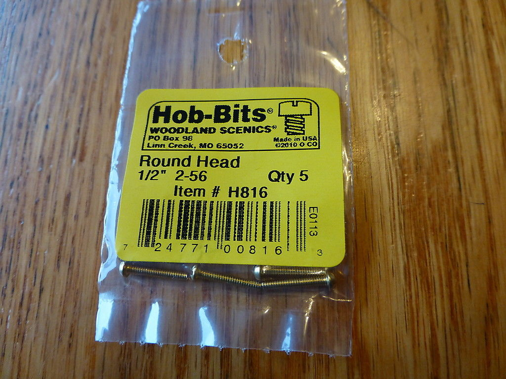 2-56 1/2In. Round Head Hob-Bits [5 Pack] (816)