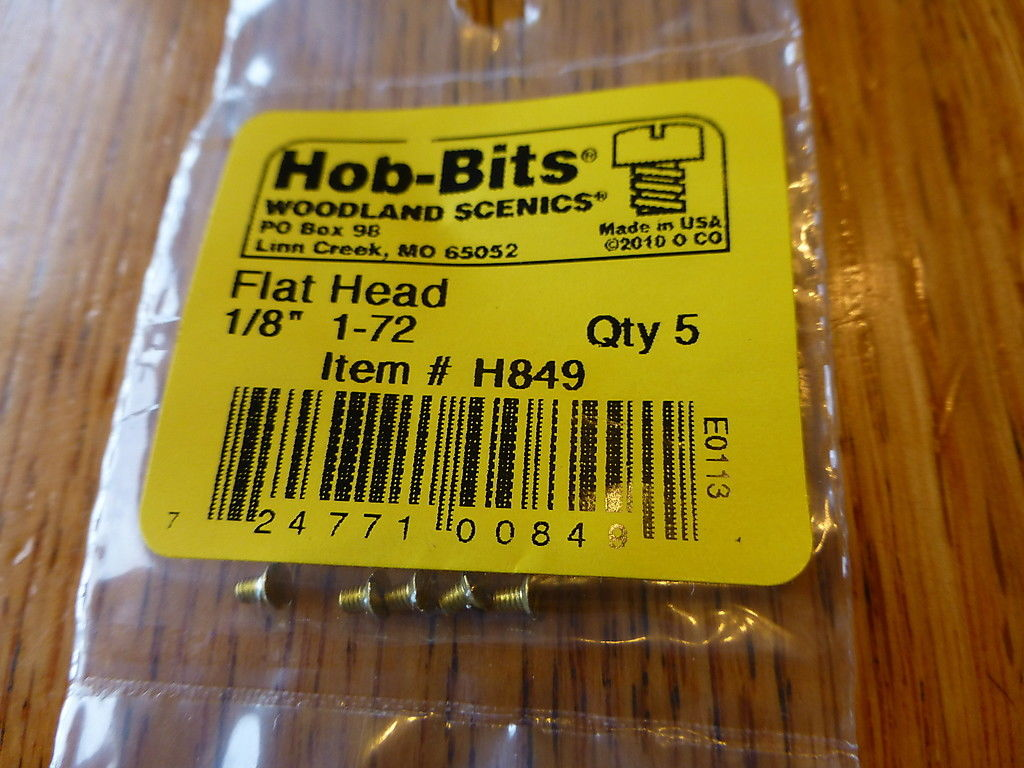 1-72 1/8In. Flat Head Hob-Bits [5 Pack] (849)