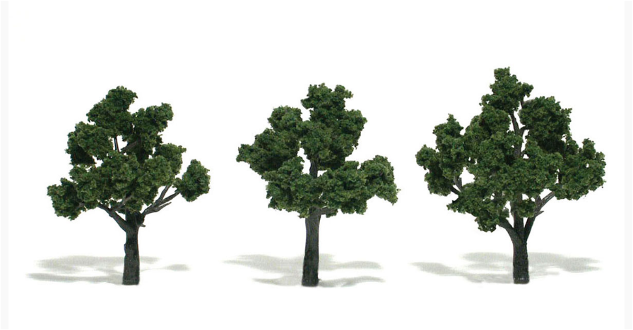 "3-4"" Medium Green Trees [3 Pack] (1507)"
